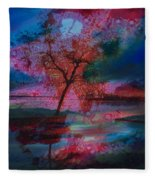 Tree Splat Fragmented Fleece Blanket