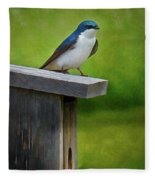 Tree Swallow Fleece Blanket