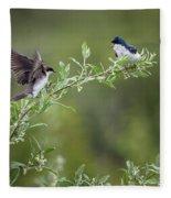 Tree Swallows Fleece Blanket