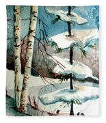 Tree Talkers Fleece Blanket