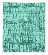 Tree Texture Turquoise Fleece Blanket