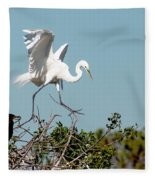 Tree Top Tip Toe Fleece Blanket