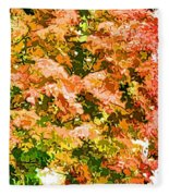 Tree With Autumn Leaves Fleece Blanket
