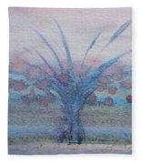 Tree With Balls Four Fleece Blanket
