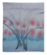 Tree With Balls Three Fleece Blanket