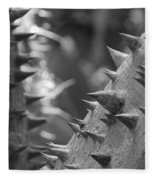 Tree With Spikes And Thorns Fleece Blanket