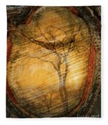Tree Within A Tree Fleece Blanket