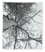 Tree Wrapped In Snow Fleece Blanket
