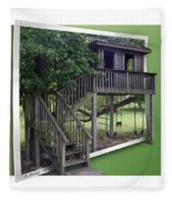 Treehouse Playground Fleece Blanket