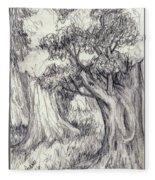Trees 2 Fleece Blanket