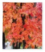 Trees Aflame Fleece Blanket