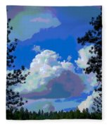Trees And A Cloud For Crying Out Loud Fleece Blanket