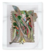 Trees And Flowers Fleece Blanket
