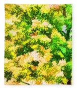 Trees And Leaves 1 Fleece Blanket