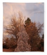 Trees At The State Capital Fleece Blanket