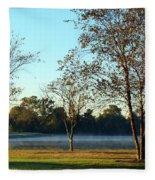 Trees By The Water Fleece Blanket