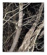 Trees Closeup Fleece Blanket