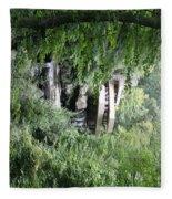 Trees Fallingwater  Fleece Blanket