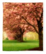Trees In A Row Fleece Blanket
