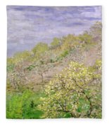 Trees In Blossom Fleece Blanket