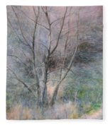 Trees In Light Fleece Blanket