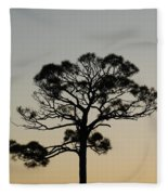 Trees In Sunset Fleece Blanket