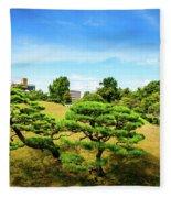 Trees In The City Fleece Blanket