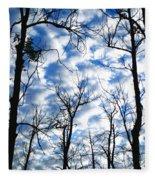 Trees In The Sky Fleece Blanket