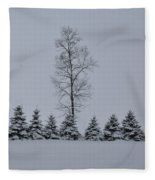 Trees In The Snow Fleece Blanket