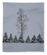 Trees In The Snow Fleece Blanket