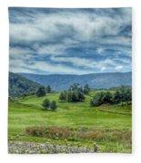 Trees In The Valley Fleece Blanket