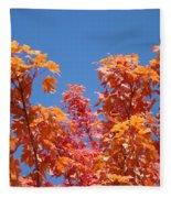 Trees Landscape Art Print Fall Tree Leaves Baslee Troutman Fleece Blanket