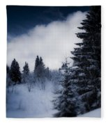 Trees Mountains And More Trees Fleece Blanket