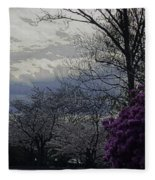 Trees Of Spring Fleece Blanket
