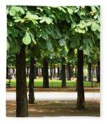 Trees Of Tuilieres Fleece Blanket