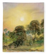Trees On Hampstead Heath At Sunset Fleece Blanket