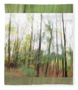 Trees On The Move Fleece Blanket