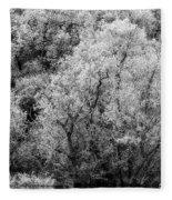 Trees On The River Fleece Blanket