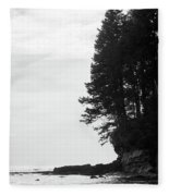 Trees Over The Ocean Fleece Blanket