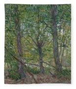 Trees Paris, July 1887 Vincent Van Gogh 1853  1890 Fleece Blanket