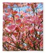 Trees Pink Spring Dogwood Flowers Baslee Troutman Fleece Blanket