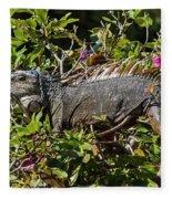Treetop Iguana Fleece Blanket