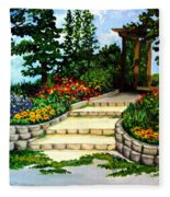 Trellace Gardens Fleece Blanket