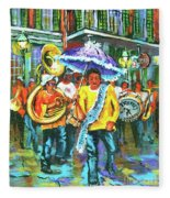 Treme Brass Band Fleece Blanket