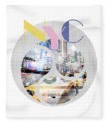 Trendy Design New York City Geometric Mix No 1 Fleece Blanket