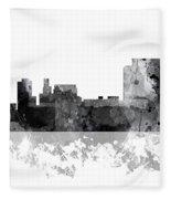 Trenton New Jersey Skyline Fleece Blanket