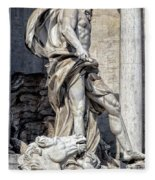 Trevi Fountain - Rome Fleece Blanket