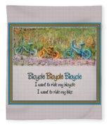 Tri Bike Bicycle Races Fleece Blanket