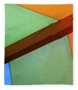 Tri Color Minimal  Fleece Blanket