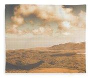 Trial Harbour Landscape Panorama Fleece Blanket